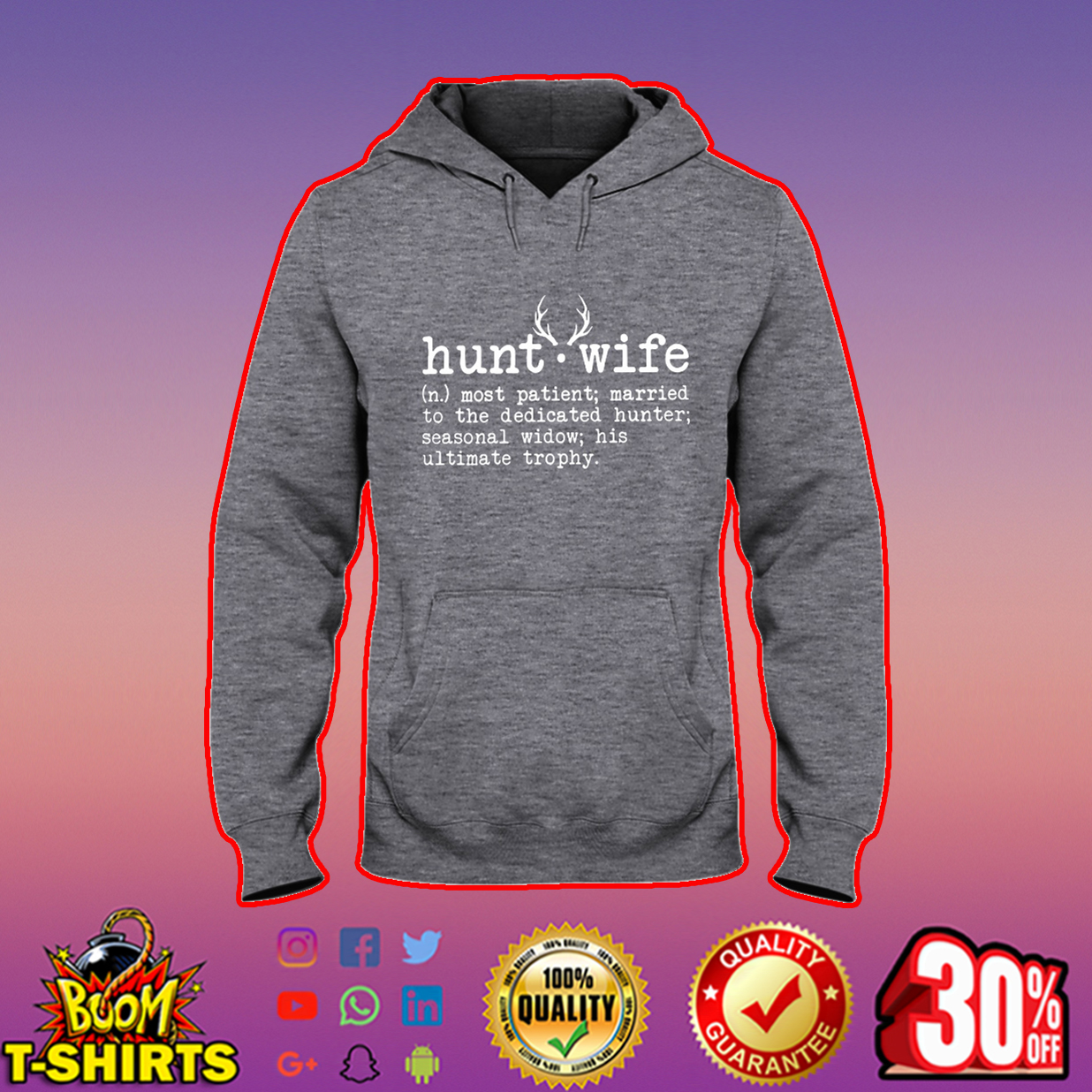 Hunt wife most patient married to the dedicated hunter hooded sweatshirt