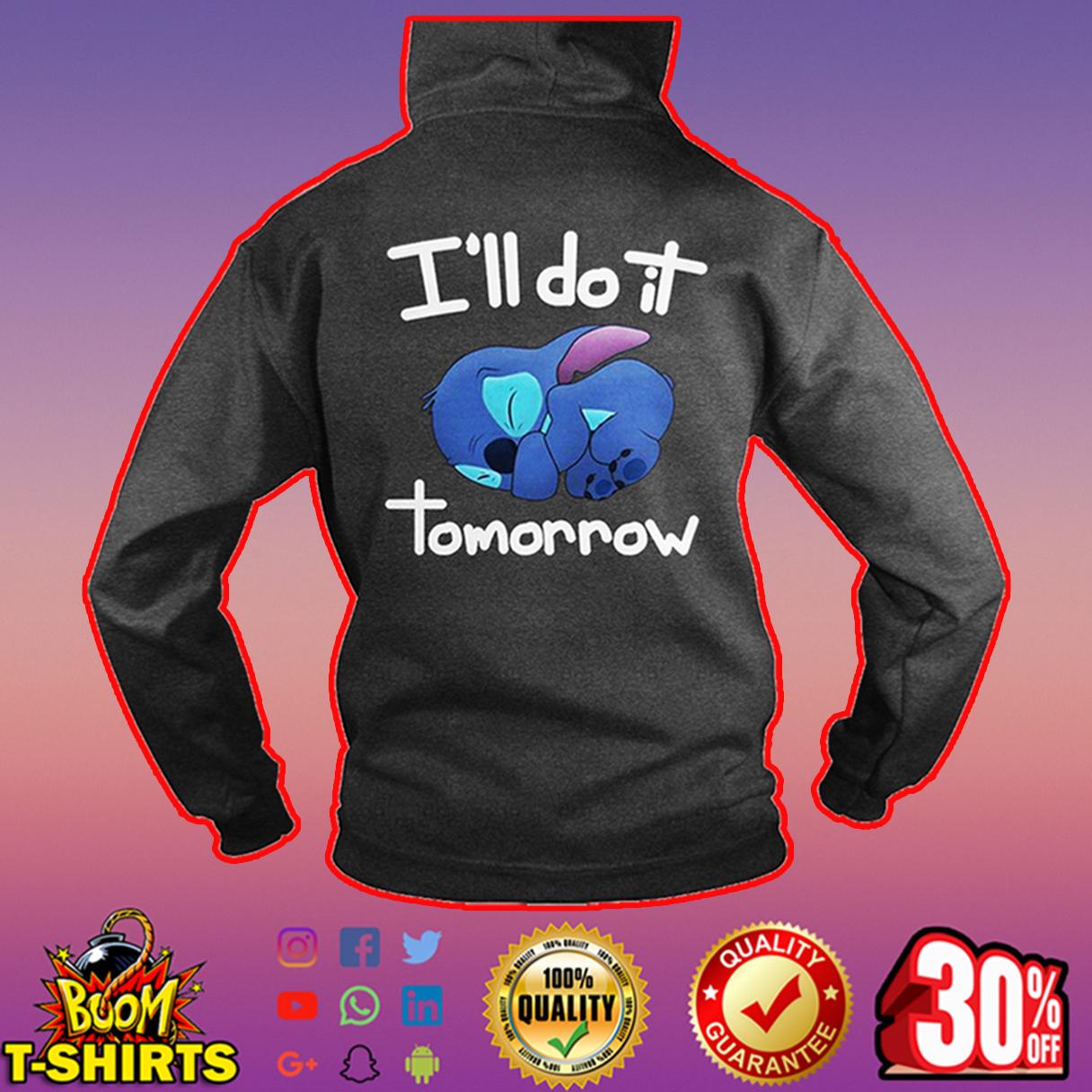 I'll do it tommorow Stitch hoodie - drak gray