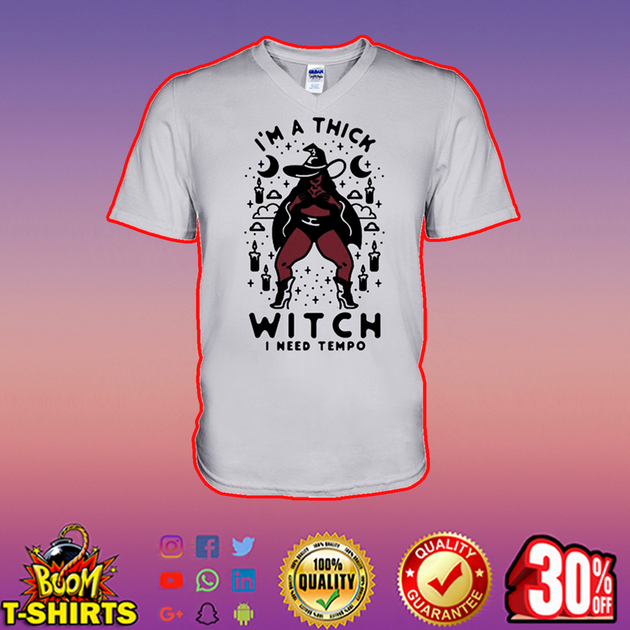 I'm a thick witch I need tempo v-neck