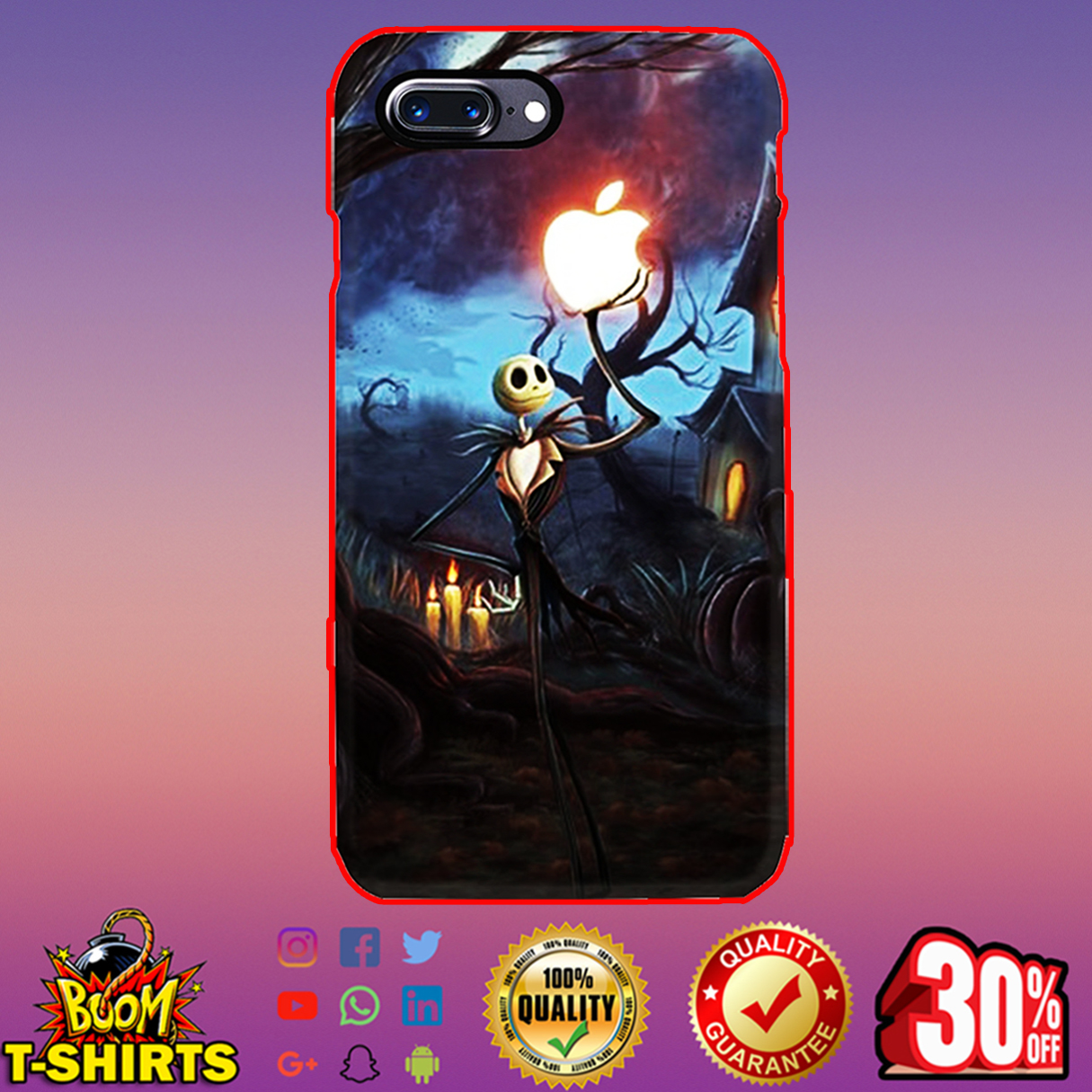 Jack Skellington Apple phone case - iphone 7 plus case