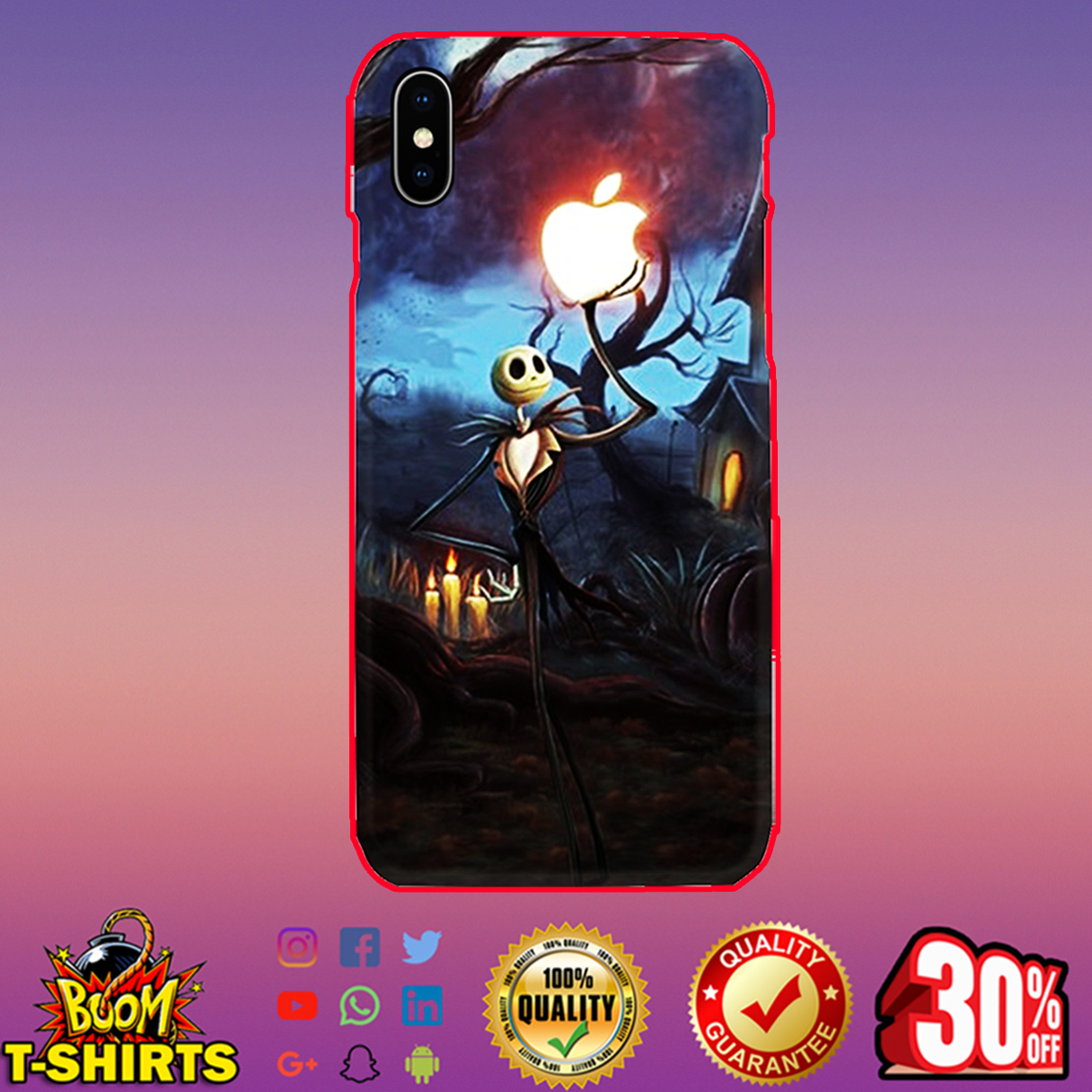 Jack Skellington Apple phone case - iphone X case