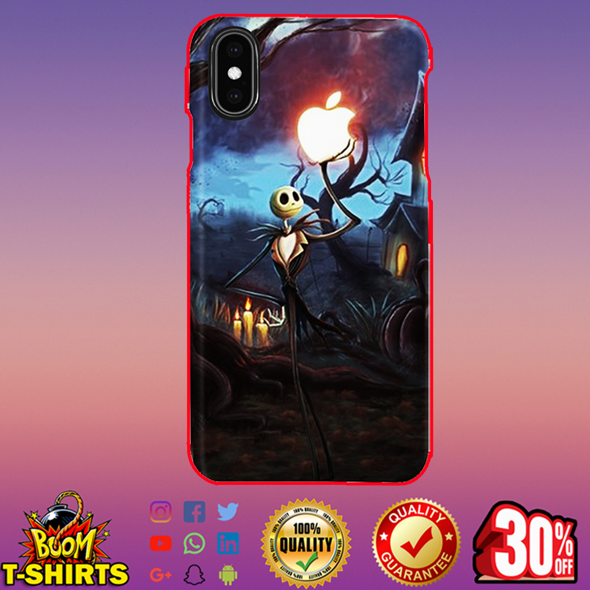 Jack Skellington Apple phone case - iphone XS max case