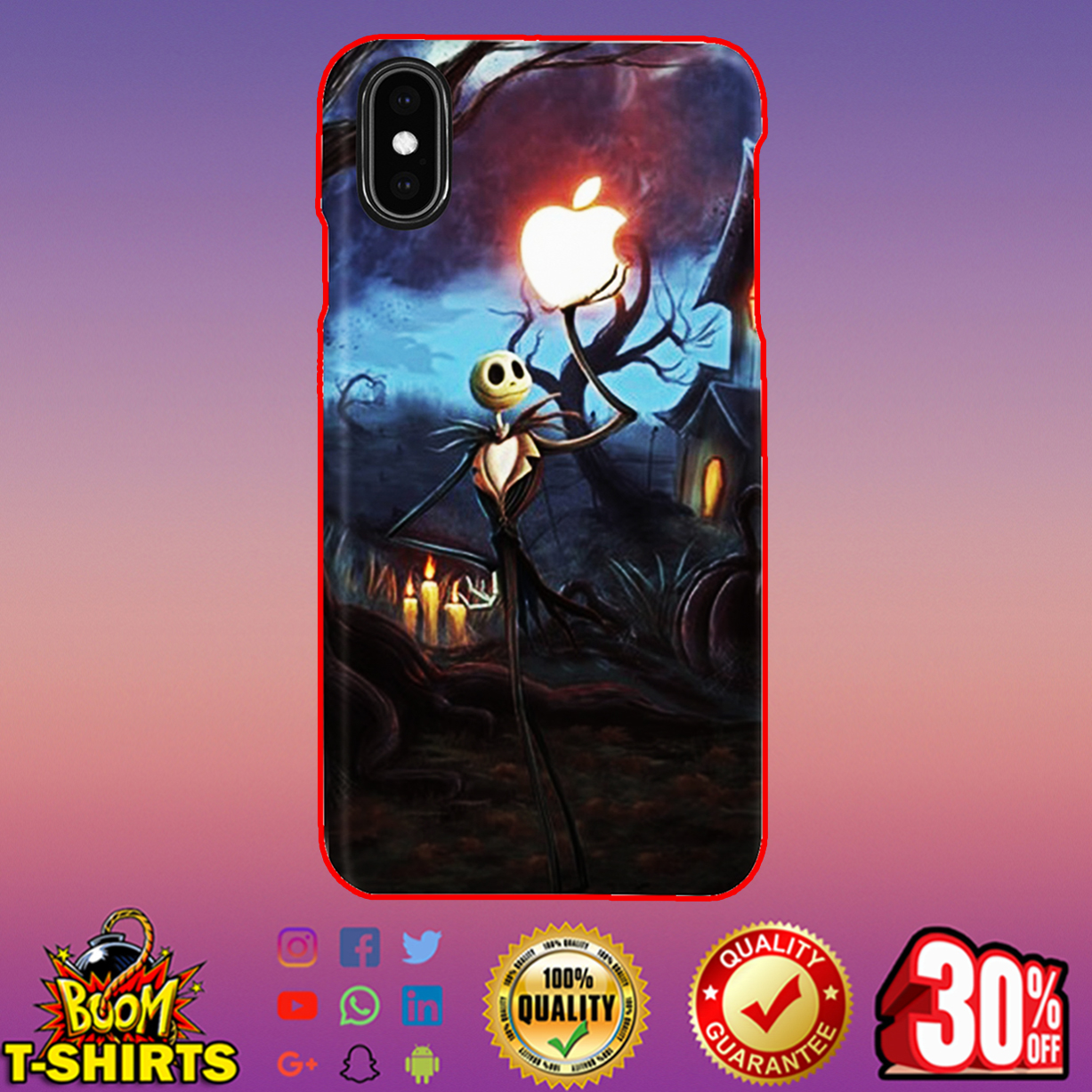 Jack Skellington holding Apple phone case - iphone XS Max case