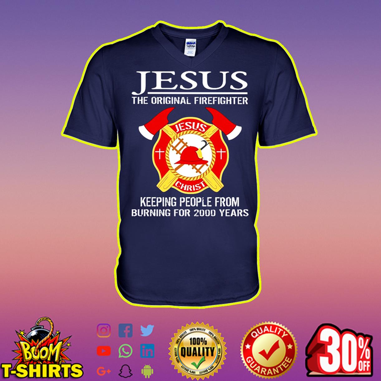 Jesus the original firefighter v-neck