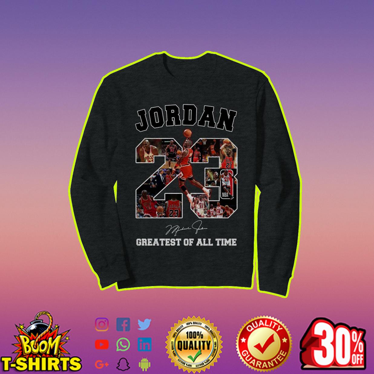 Jordan greatest of all time signature sweatshirt