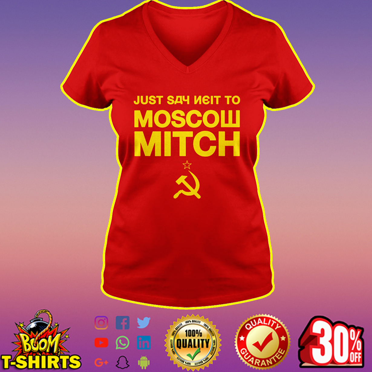 Just Say Neit To Moscow Mitch v-neck