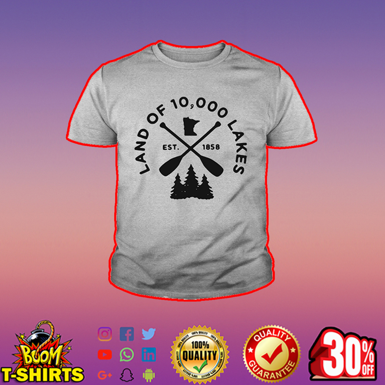 Land of 10000 lakes youth tee