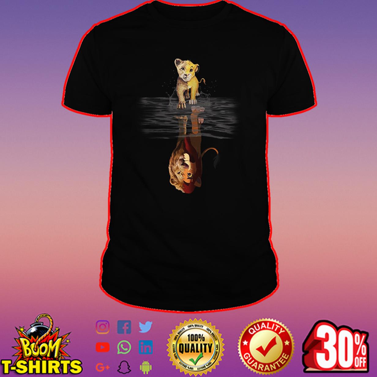 Lion King reflection shirt
