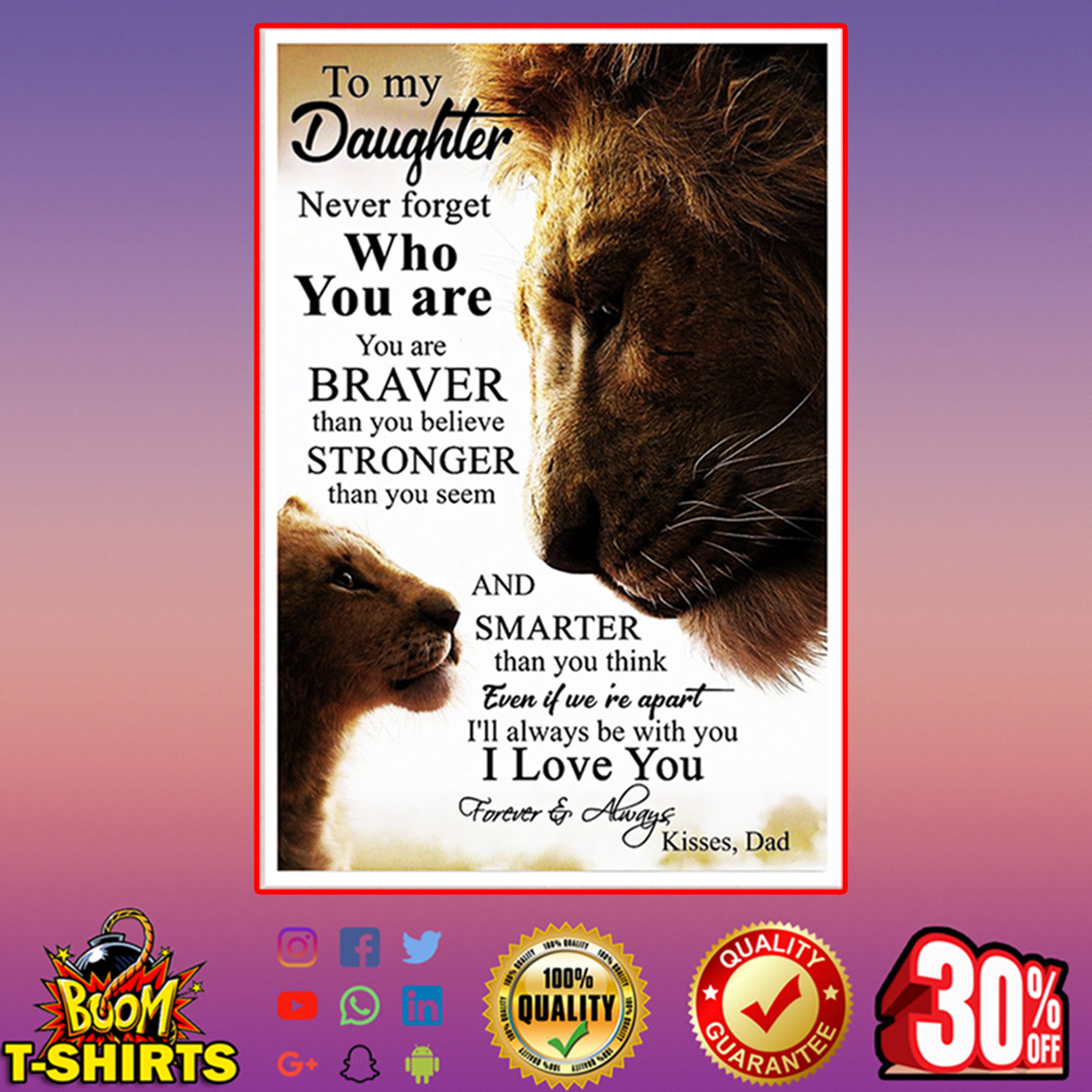 Lion King to my daughter never forget who you are poster