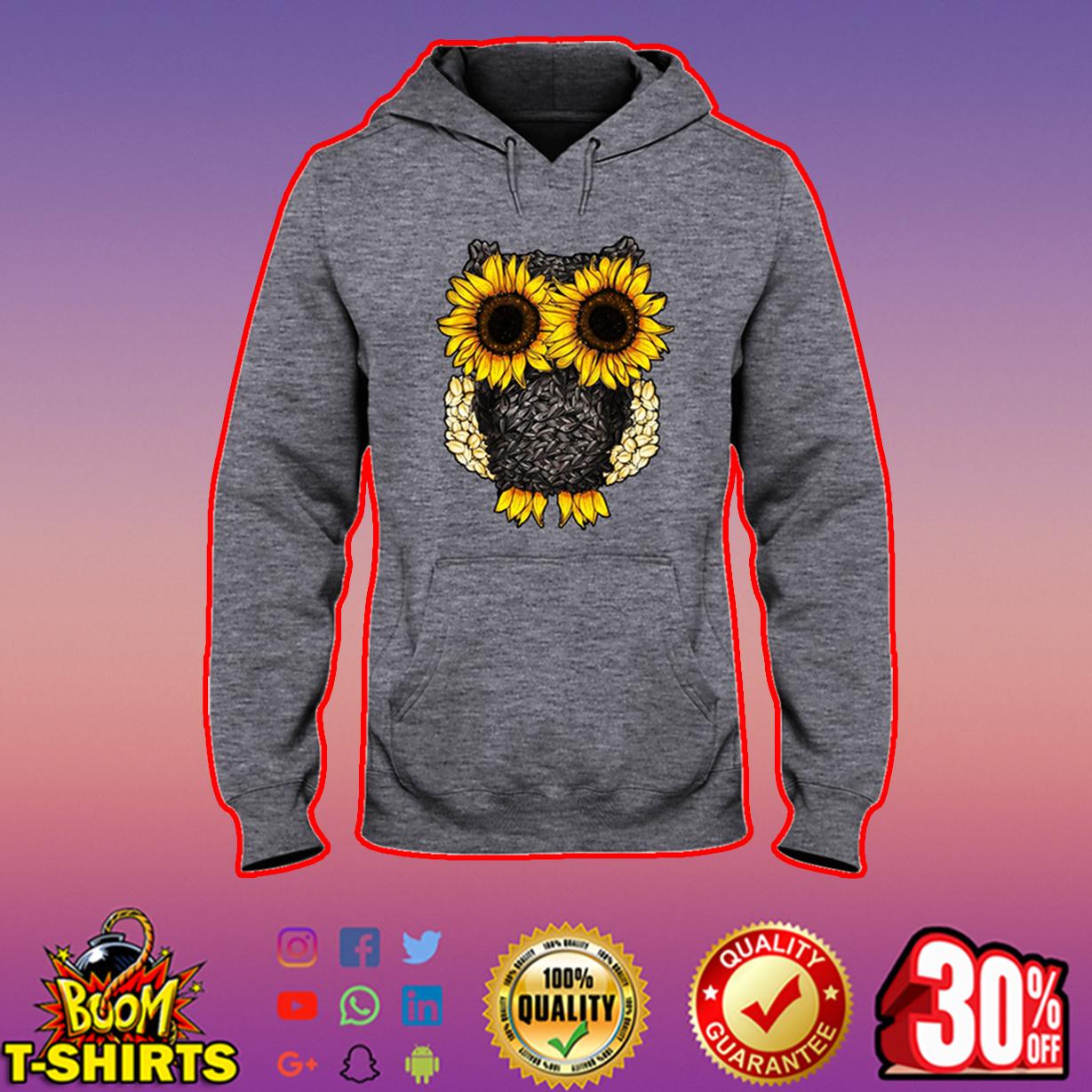 Owl sunflower hooded sweatshirt