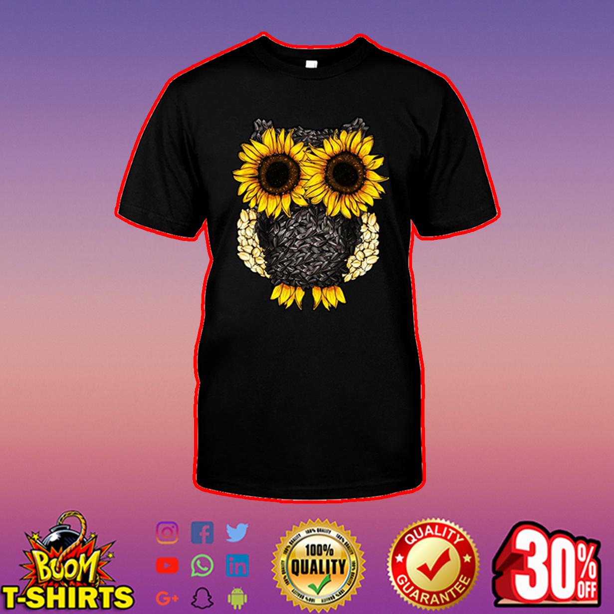 Owl sunflower shirt