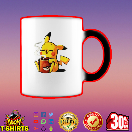 Pikachu no coffee no workee mug - color change