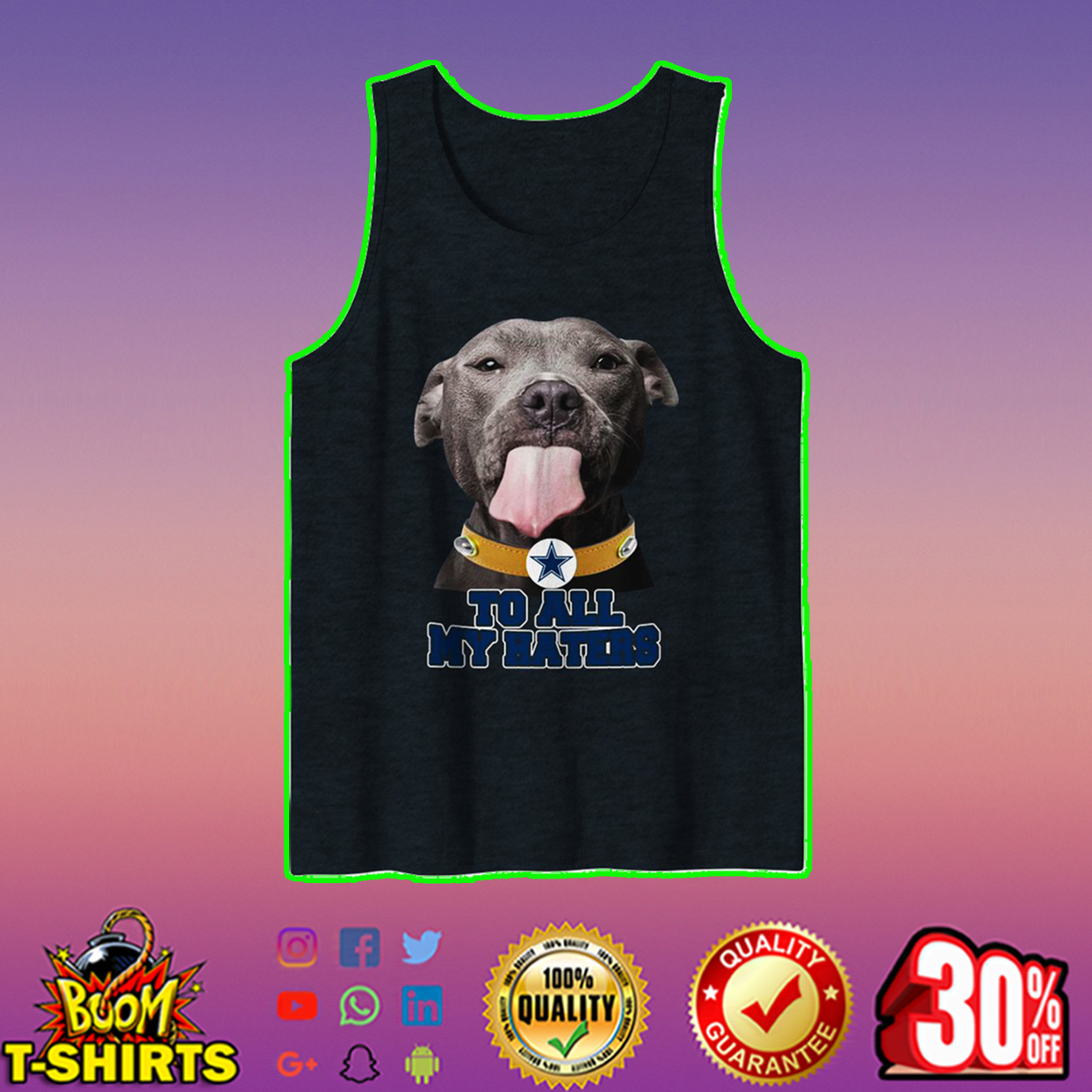 Pitbull Cowboys to all my haters tank top