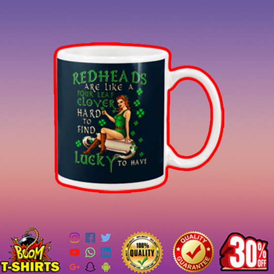 Redheads are like a four leaf clover hard to find lucky to have mug - navy