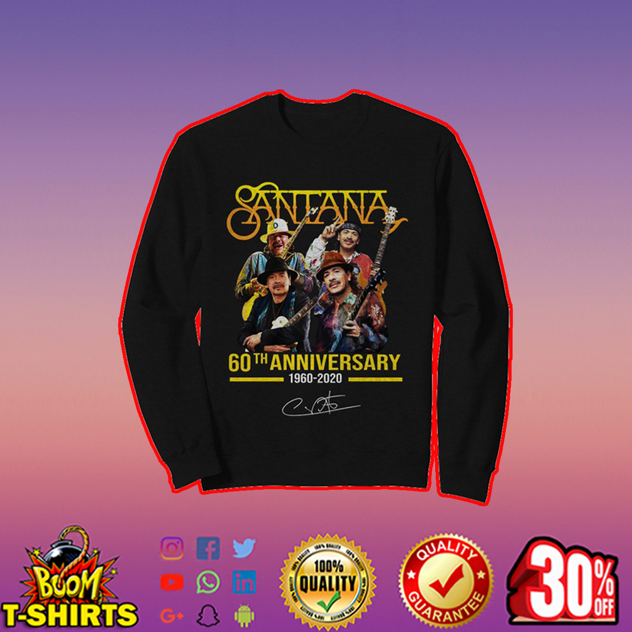 Santana 60th anniversary sweatshirt