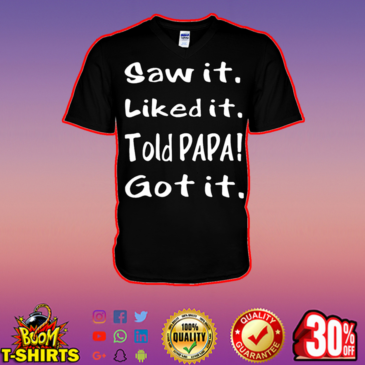 Saw it liked it told papa got it v-neck