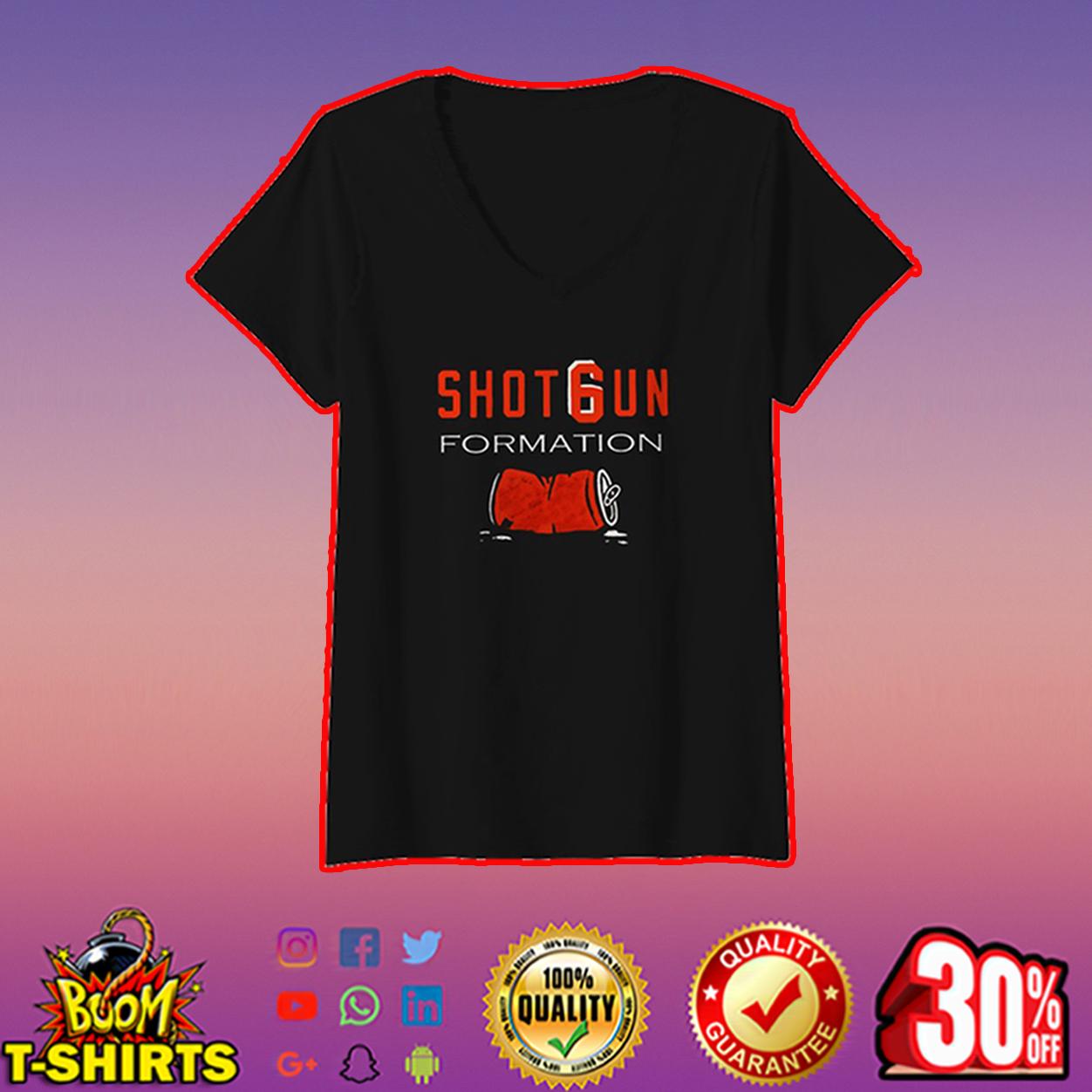 Shotgun formation v-neck