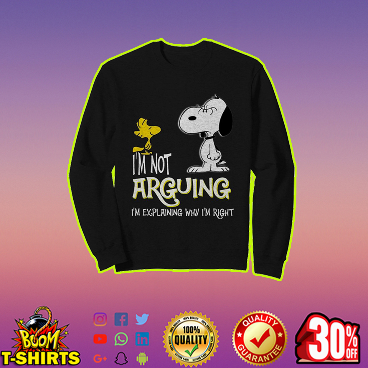 Snoopy and Woodstock I'm not arguing sweatshirt
