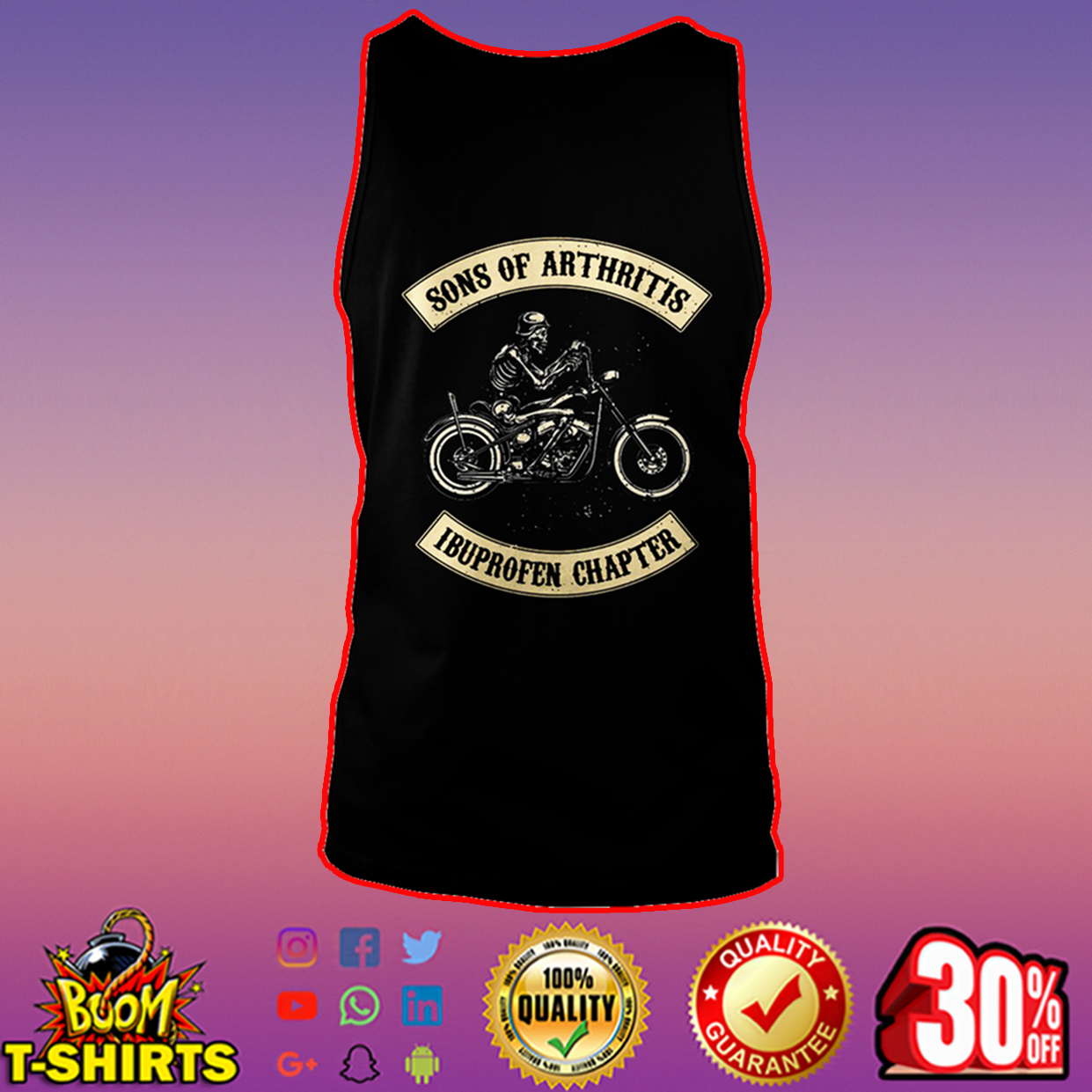 Sons of arthritis ibuprofen chapter tank top