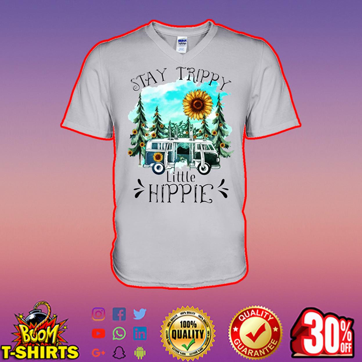 Stay Trippy Little Hippie Sunflower v-neck