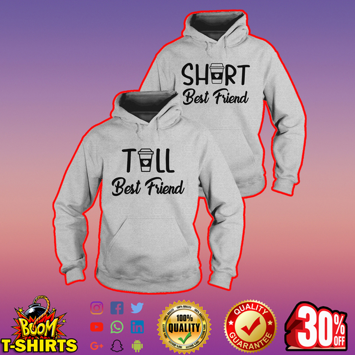 Tall and Short best friend hoodie