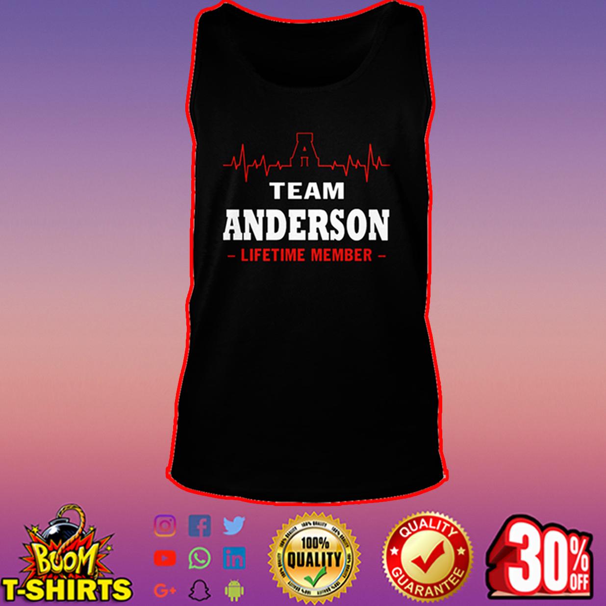Team Anderson lifetime member tank top