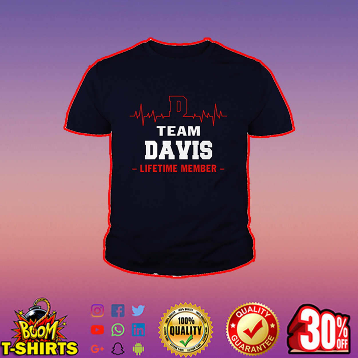 Team Davis lifetime member youth tee