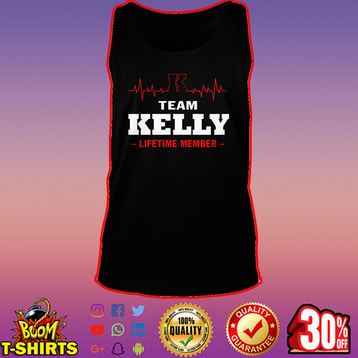Team Kelly lifetime member tank top