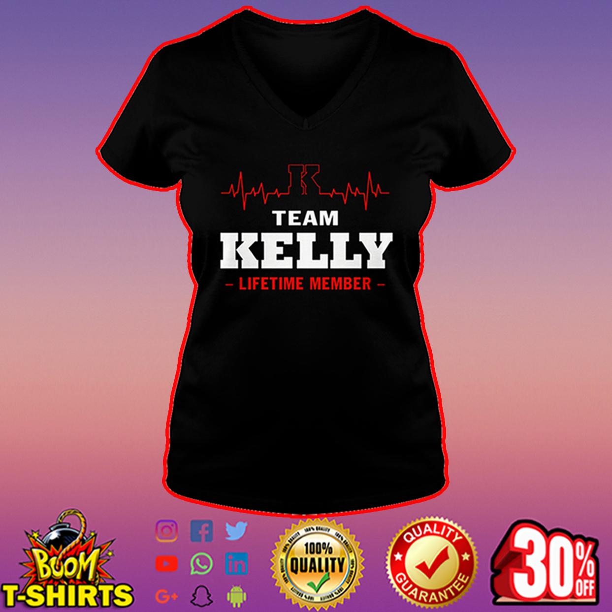 Team Kelly lifetime member v-neck