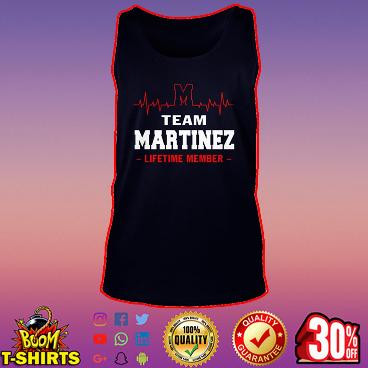 Team Martinez lifetime member tank top
