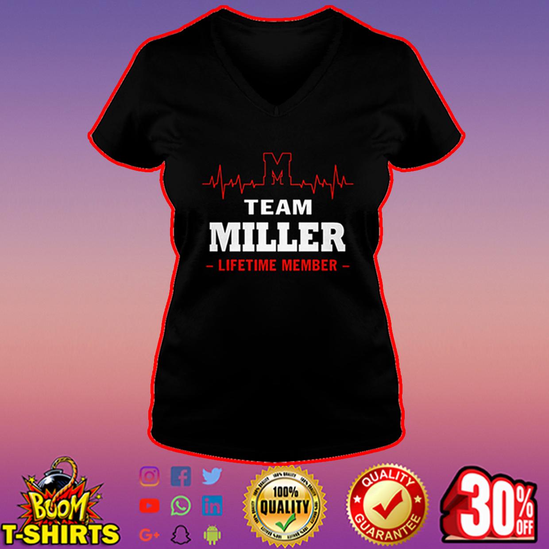 Team Miller lifetime member v-neck
