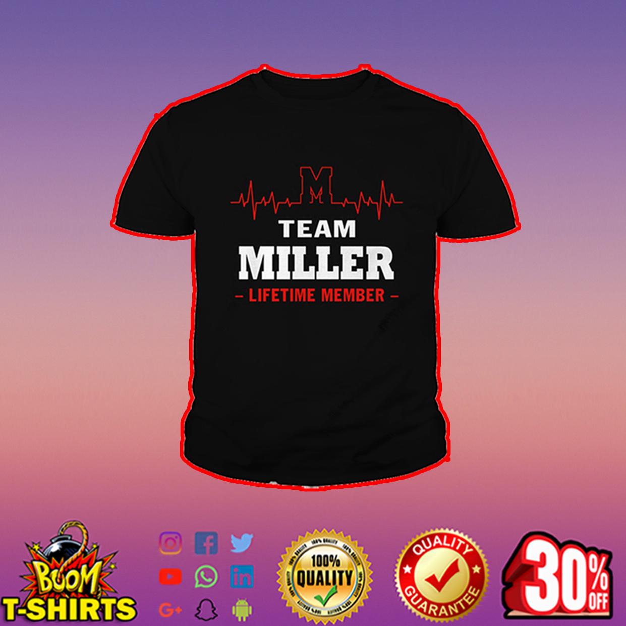 Team Miller lifetime member youth tee