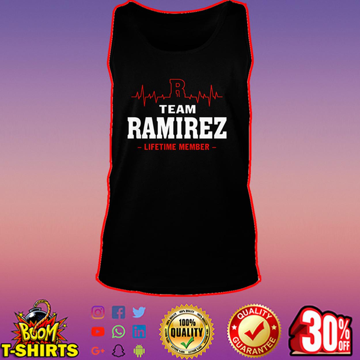 Team Ramirez lifetime member tank top