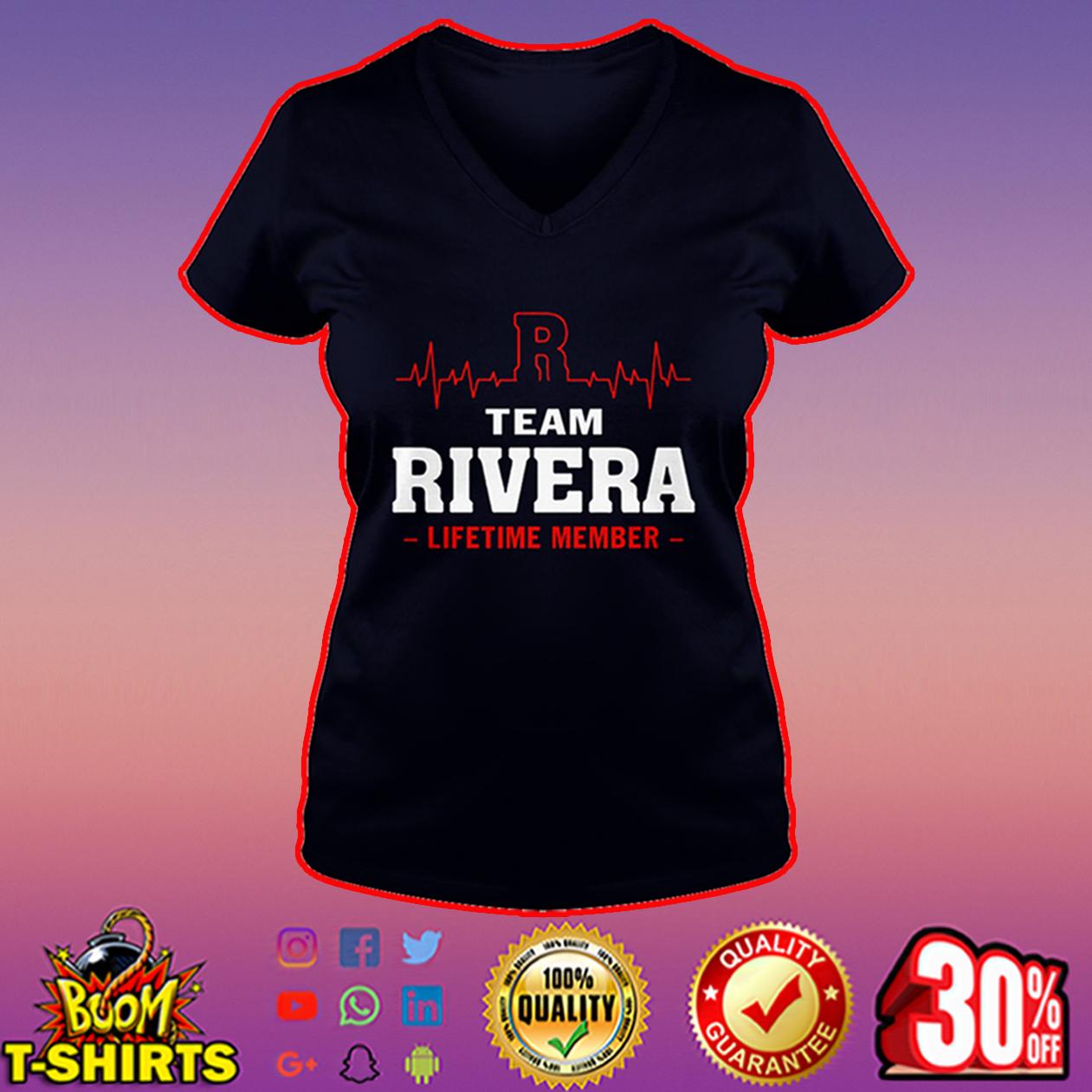 Team Rivera lifetime member v-neck