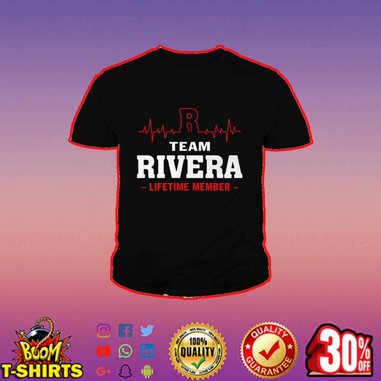 Team Rivera lifetime member youth tee