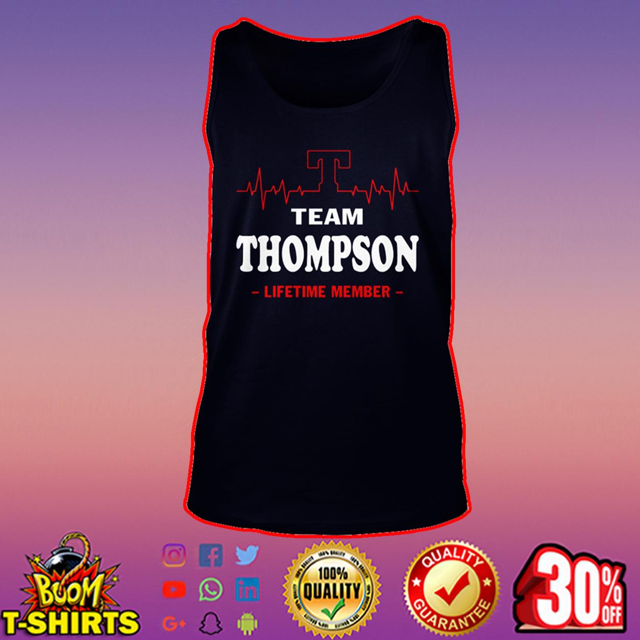 Team Thompson lifetime member tank top