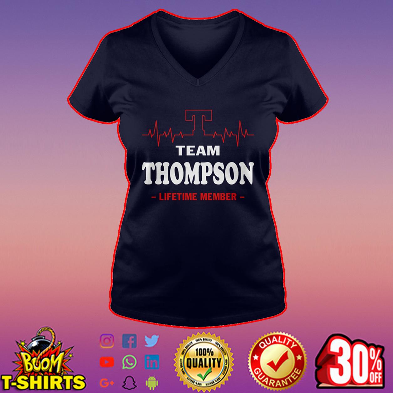 Team Thompson lifetime member v-neck