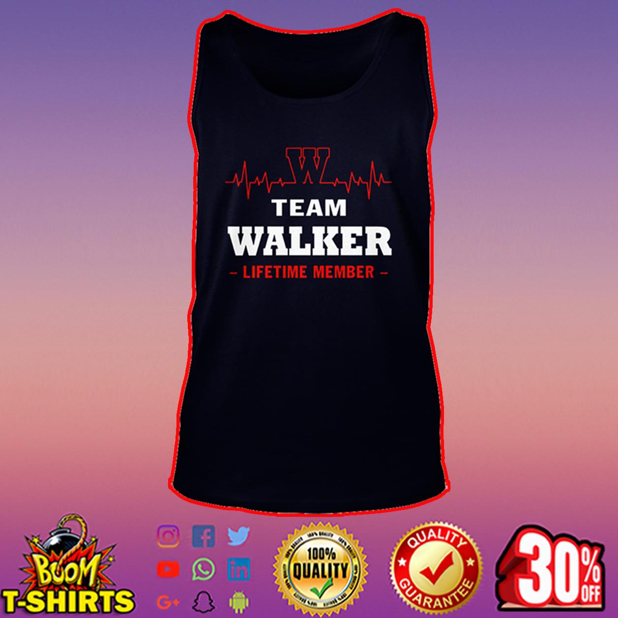 Team Walker lifetime member tank top