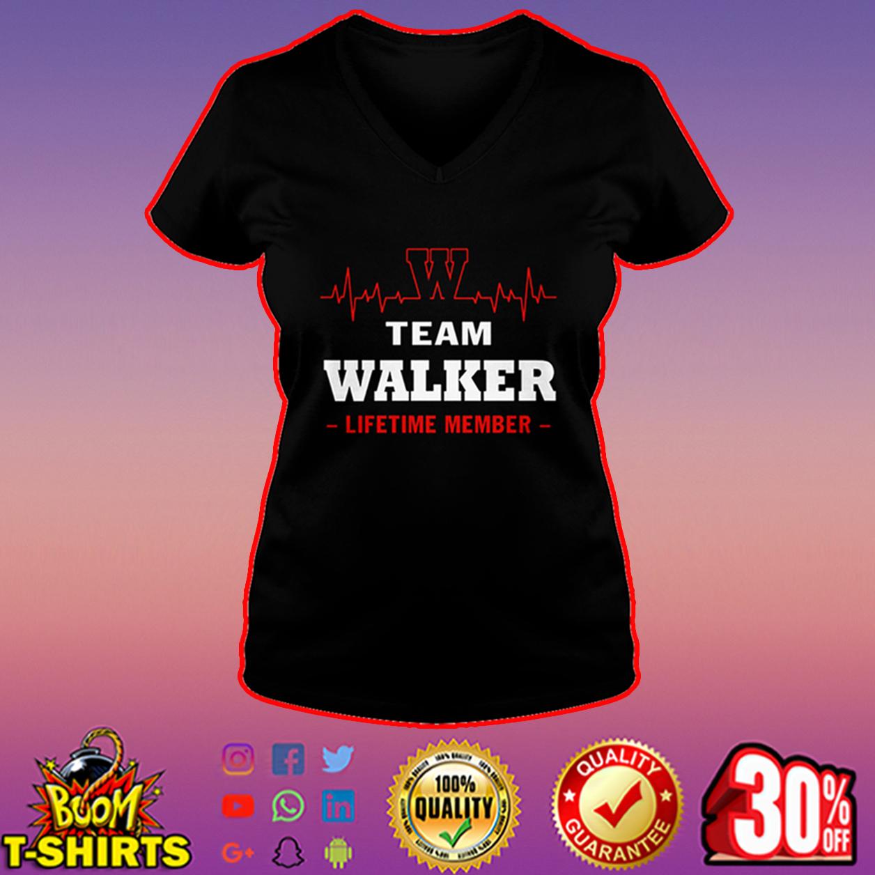 Team Walker lifetime member v-neck