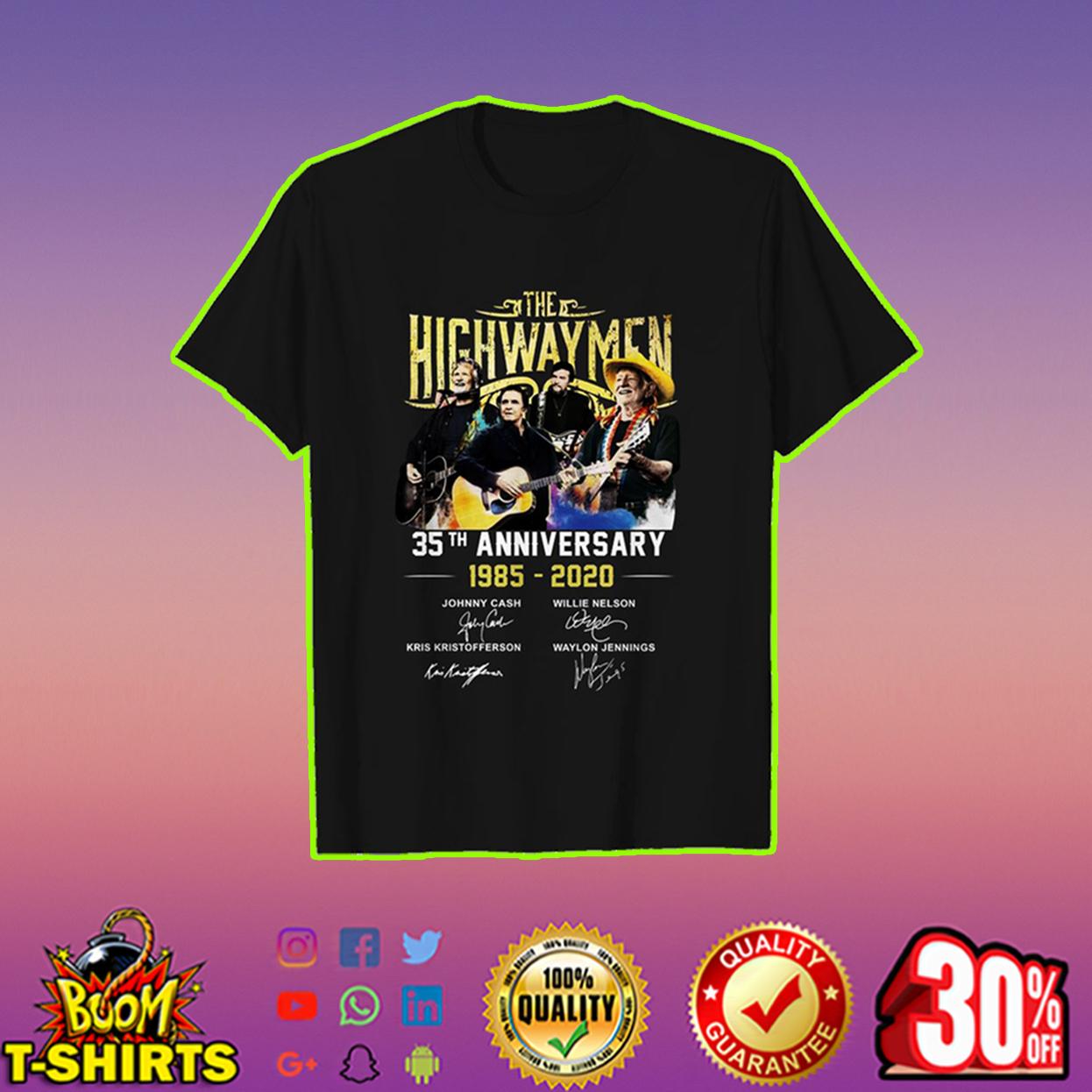 The Highwaymen 35th Anniversary shirt