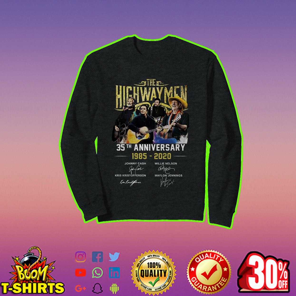 The Highwaymen 35th Anniversary sweatshirt