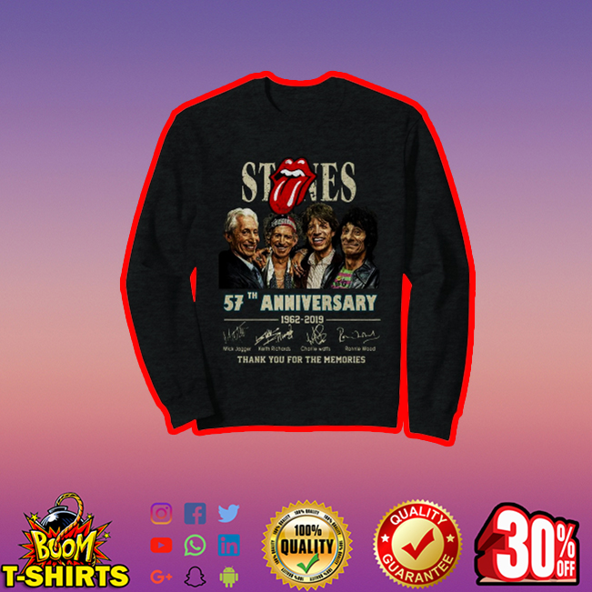 The Rolling Stones 57th Anniversary thank you for the memories sweatshirt