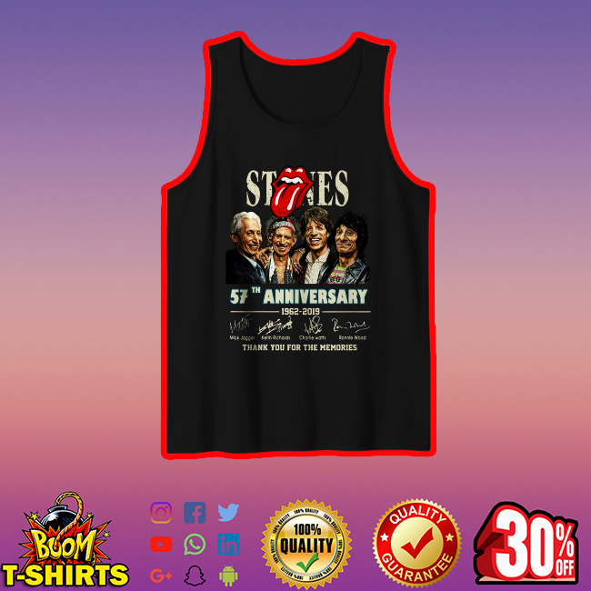 The Rolling Stones 57th Anniversary thank you for the memories tank top