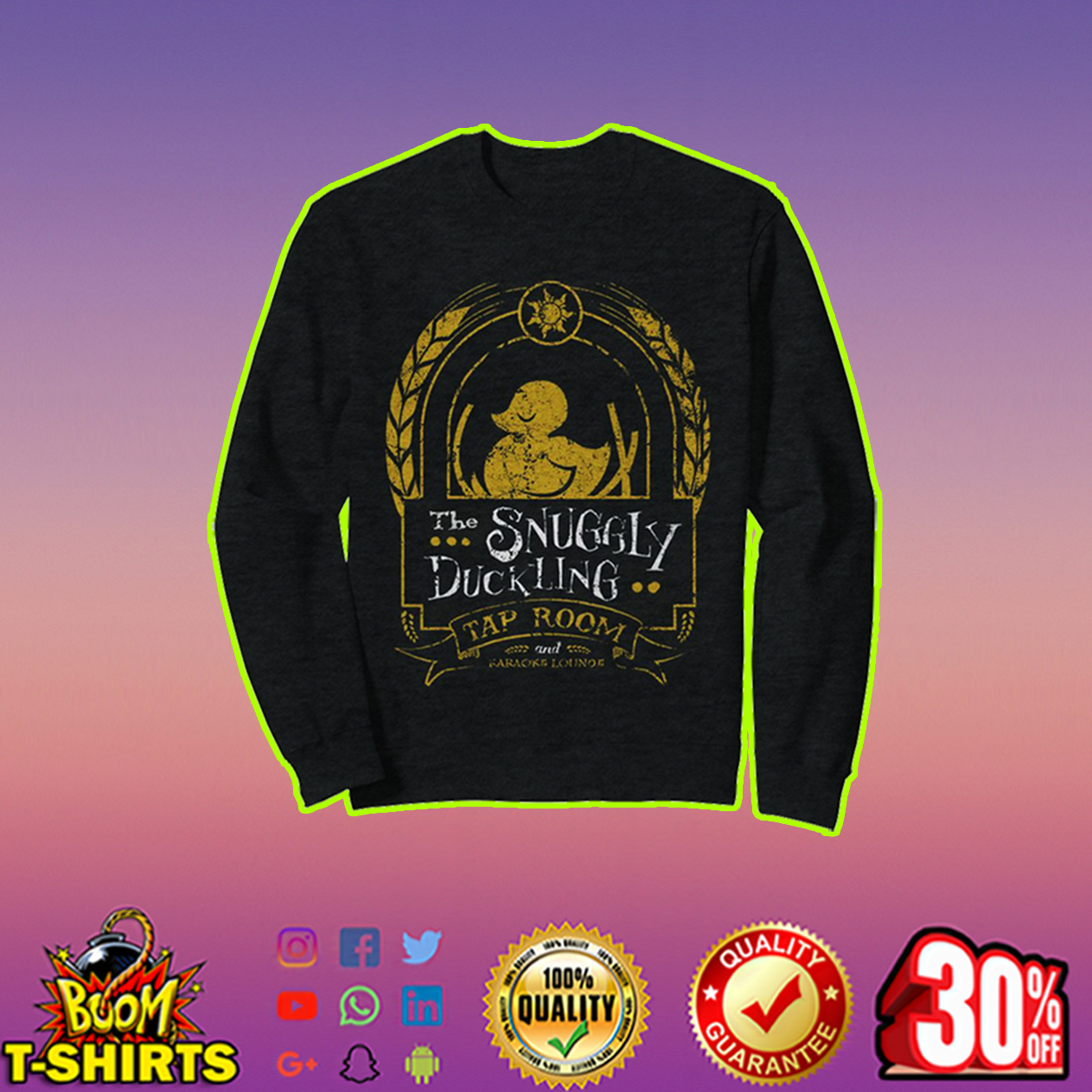 The Snuggly Duckling Tap Room sweatshirt