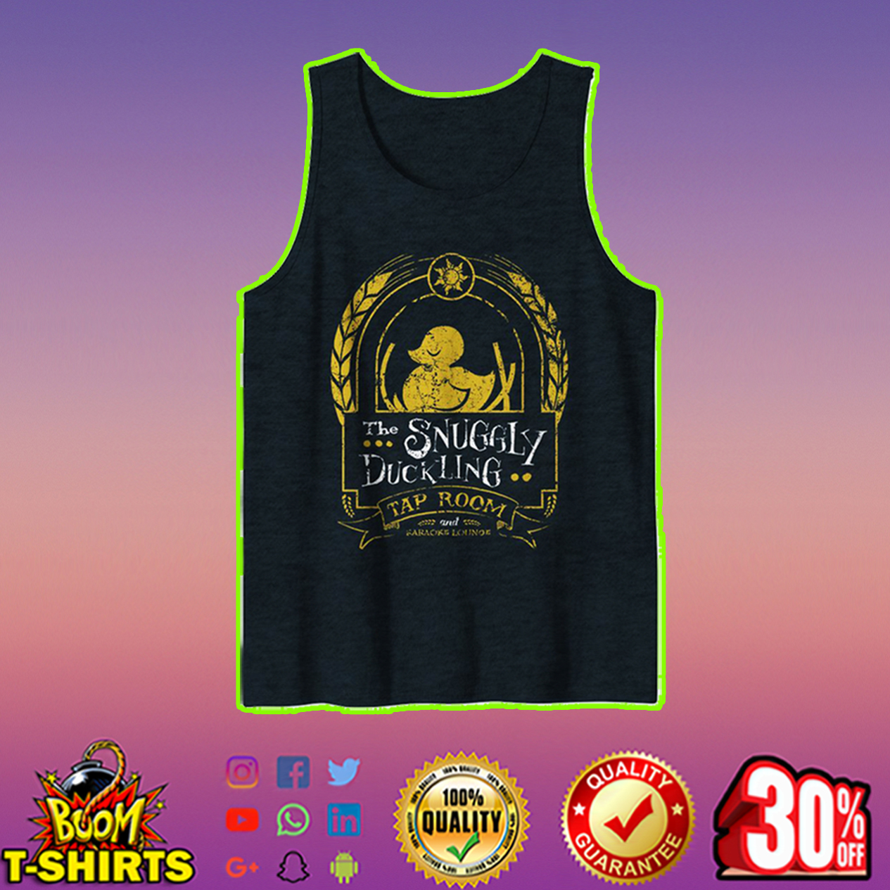 The Snuggly Duckling Tap Room tank top