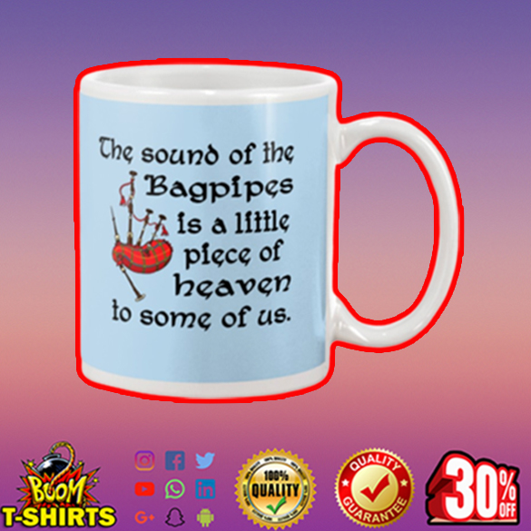 The sound of the bagpipes is a little piece mug - blue