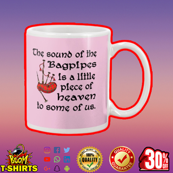 The sound of the bagpipes is a little piece mug - pink