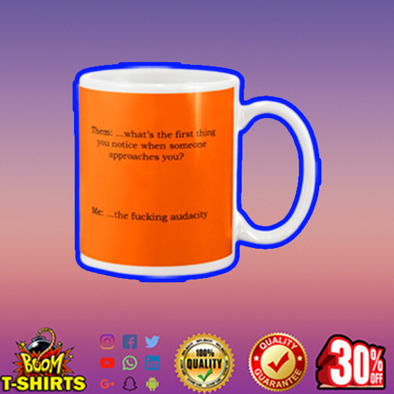 Them what's the first thing you notice mug - orange