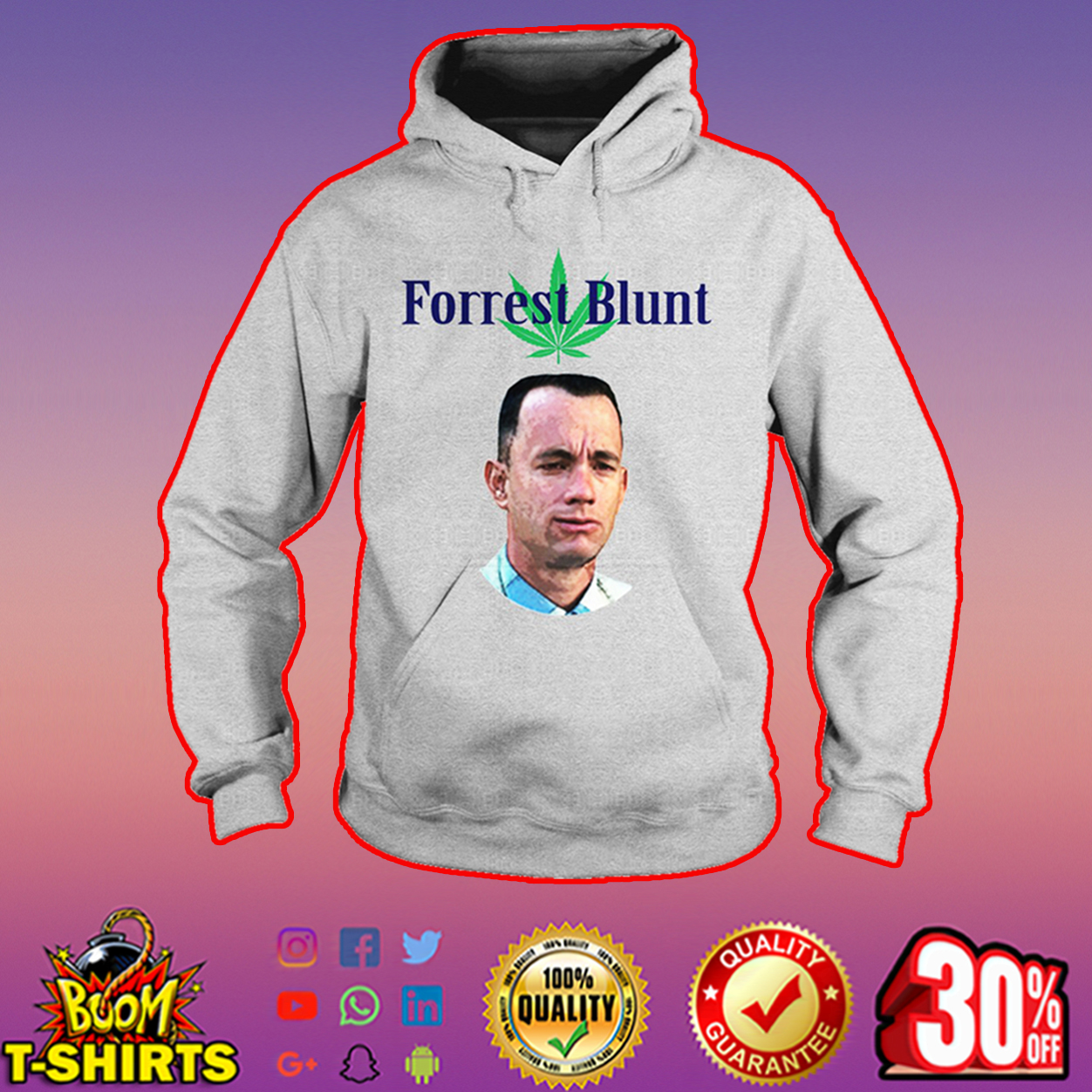 Tom Hanks Forrest blunt hoodie