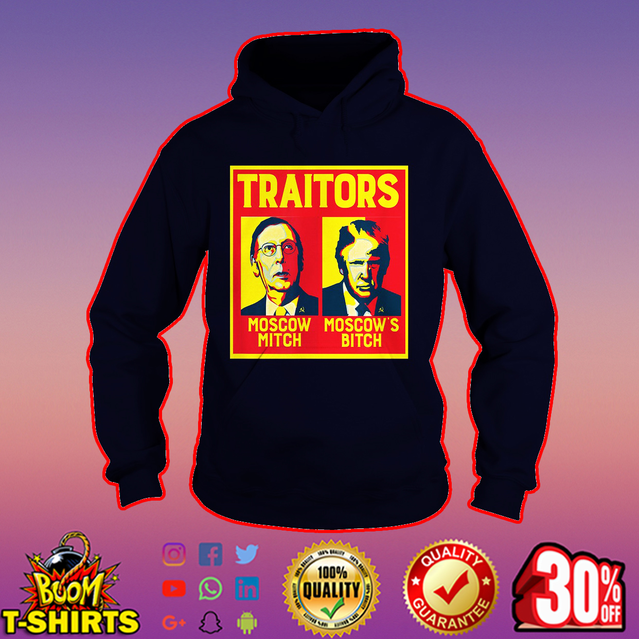 Traitors Ditch Moscow Mitch hoodie